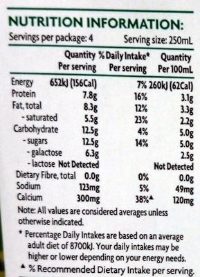 Coles Lactose Free Milk Full Cream - Nutrition facts