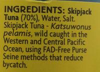 Tuna sandwich style in brine - Ingredients