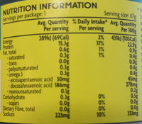 Tuna sandwich style in brine - Nutrition facts