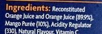 Orange & Mango Juice - Ingredients