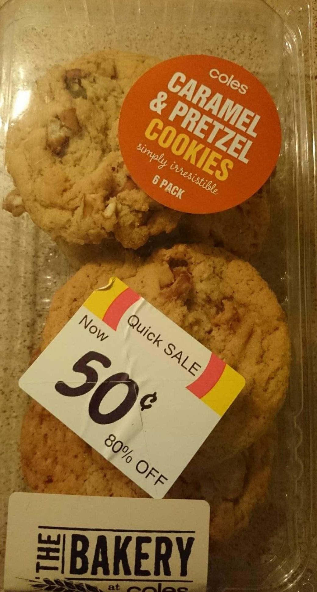 Caramel Pretzel Cookies Coles 6 Pack