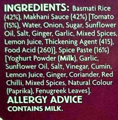 Makhani Meal Kit - Ingredients - en