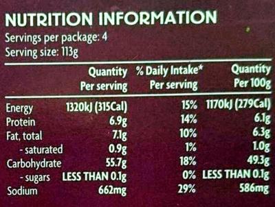 Makhani Meal Kit - Nutrition facts - en