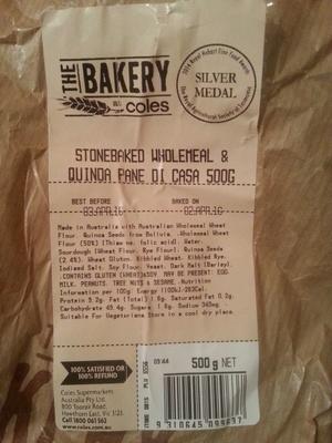 stonebaked wholemeal & quinoa pane di casa - Product