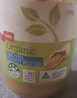 Coles Organic Smooth Peanut butter - Product - en