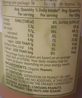 Coles Organic Smooth Peanut butter - Nutrition facts - en