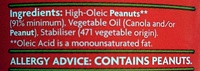 Peanut Butter Crunchy - No added Salt - Ingredients