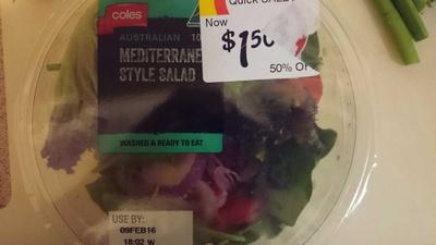 Coles Australian Mediterranean Style Salad - Product