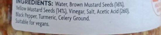 Wholegrain mustard - Ingredients - en