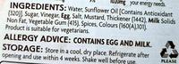 Coleslaw Dressing - Inhaltsstoffe - en