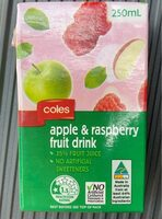Apple and raspberry fruit drink - Product - en