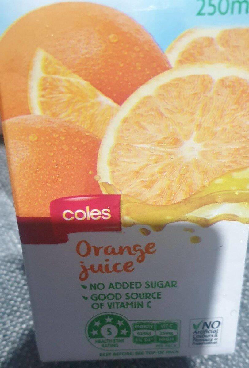 Coles orange juice 250mL - Product - en