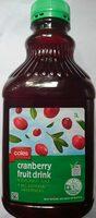 Coles Cranberry Fruit Drink - Product