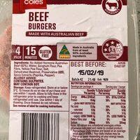 Beef burgers - Product - en