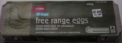 12 Large Free Range Eggs - Product