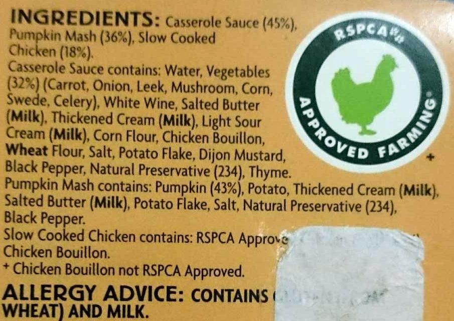 Chicken Casserole - Ingredients - en