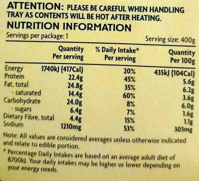 Chicken Casserole - Nutrition facts - en