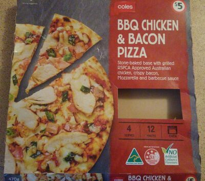 BBQ chicken and bacon pizza - Product - en