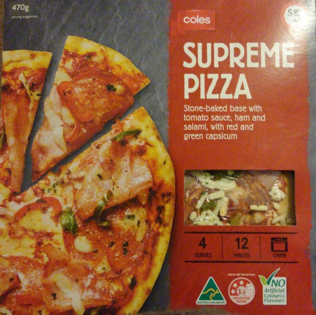Coles Supreme Pizza - Product - en