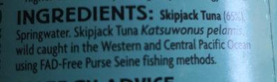 tuna in springwater - Ingredients - en