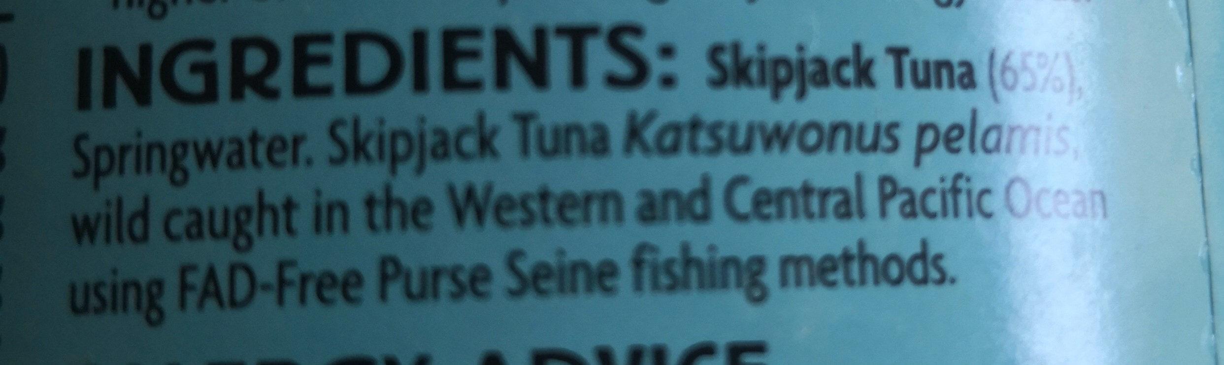 tuna in springwater - Ingredients