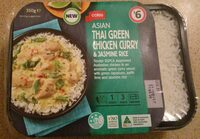 Coles Asian Thai Green Chicken Curry & Jasmine Rice - Product - en