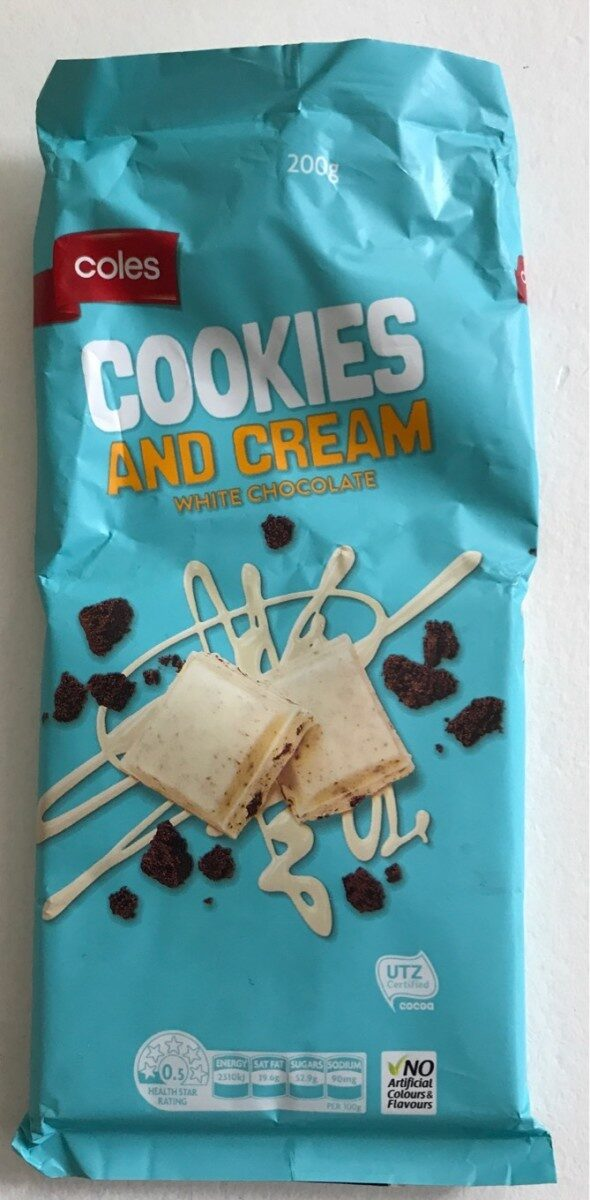 Cookies And Cream White chocolate - Product - en
