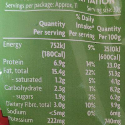 Almonds - Nutrition facts - de
