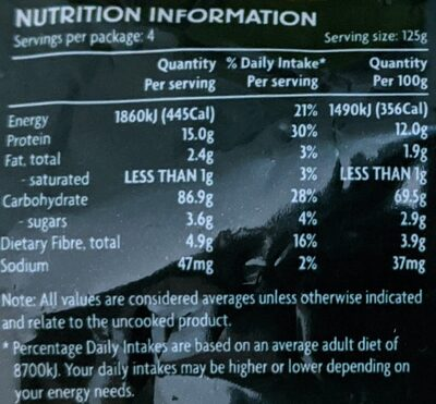 Coles Large Shells - Voedingswaarden - en