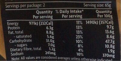 Traditional brioche Burger Buns - Nutrition facts - en