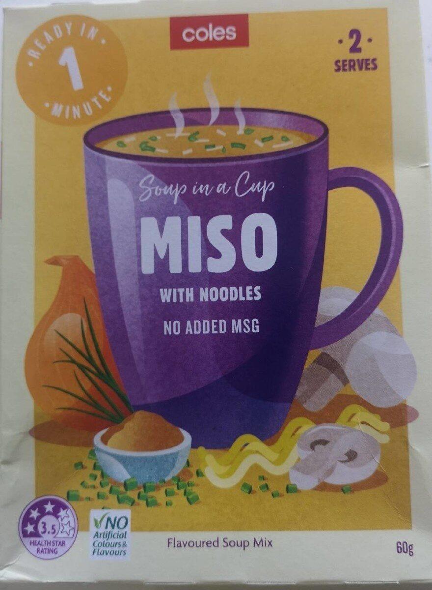 Soup in a cup Miso with Noodles - Produit - en