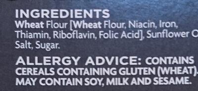 Water Crackers - Ingrédients - en