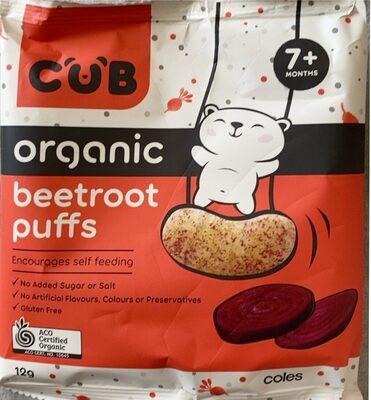 Organic beetroot puffs - Product - en