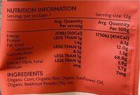 Organic beetroot puffs - Nutrition facts - en