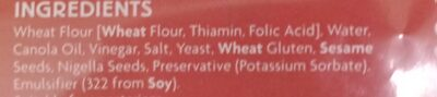Coles turkish bread - Ingredients - en