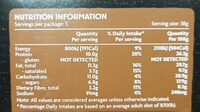 Protein bars - Nutrition facts - en