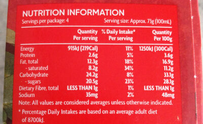 Gingerbread with a Caramel Ripple Ice Cream Sticks - Nutrition facts - en