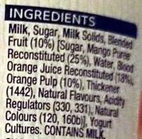 Mango & Blood Orange Twist Yoghurt - Ingredients - en