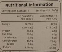 Spaghetti & Meatballs - Nutrition facts - en