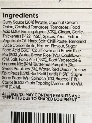 Super Green wellness bowl - Ingrédients - en