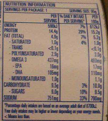 Fad Free Tuna Spicy Chilli - Nutrition facts - en