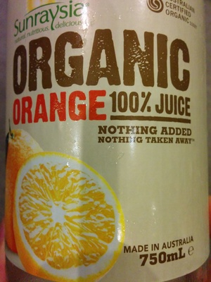 Organic Orange Juice - Product