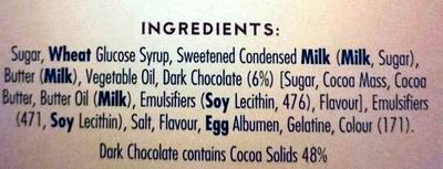 Caramel Snows - Ingredients - en