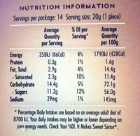 Caramel Snows - Nutrition facts - en