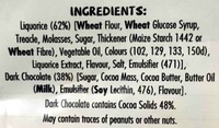 Double Coated Chocolate Bites - Liquorice with Dark Chocolate - Ingredients