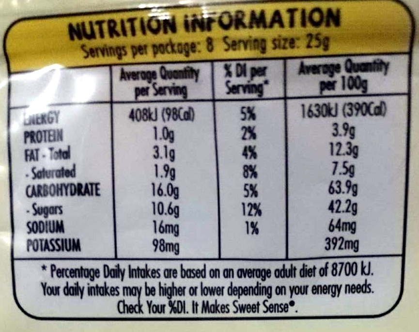 Double Coated Chocolate Bites - Liquorice with Dark Chocolate - Nutrition facts