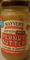 Mayvers Super Natural Crunchy Peanut Butter - Product