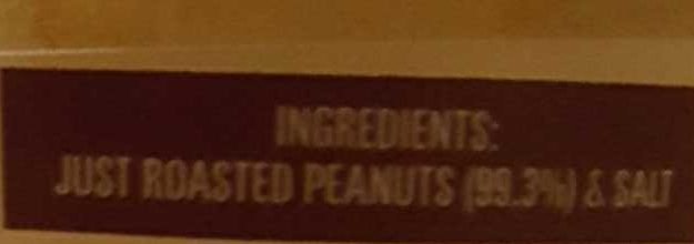 Mayvers Super Natural Crunchy Peanut Butter - Ingredients
