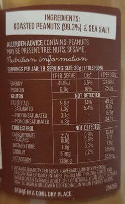 Mayver's Peanut Butter Crunchy - Nutrition facts - en