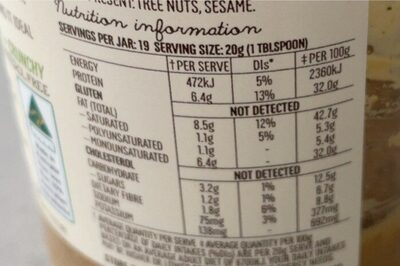 Peanut butter with hemp seed - Informations nutritionnelles - en